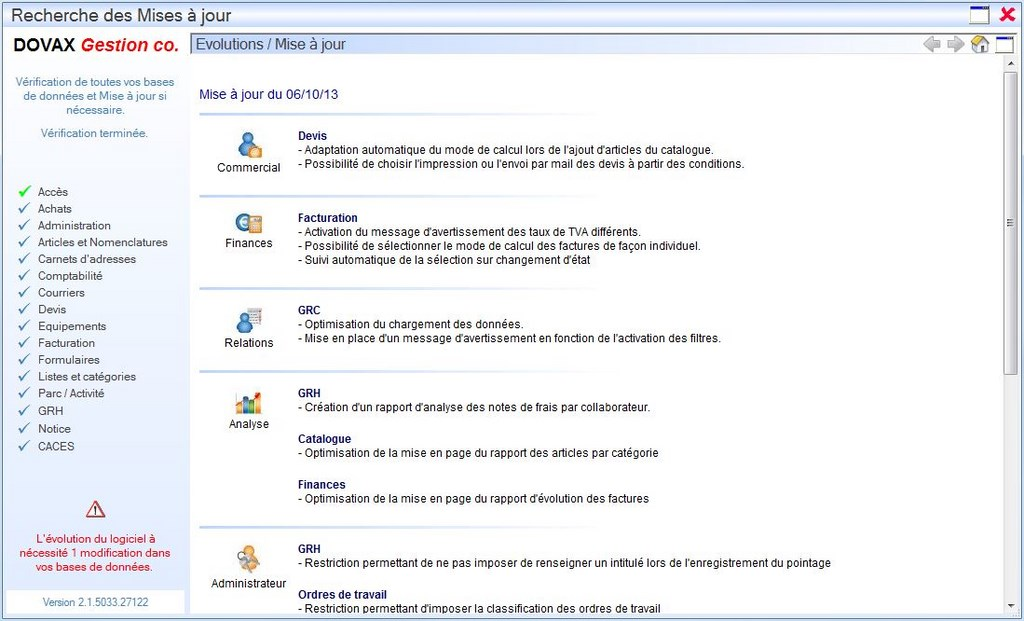"Interface du Module ""A propos de"""