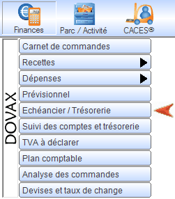Interface du Module Finances